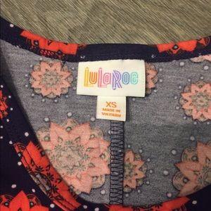 LuLaRoe Dresses - Lularoe Carly x small Navy, Orange NWT